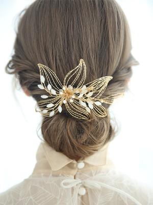 Lovely Czech Imitation Pearl Bridal Headpieces