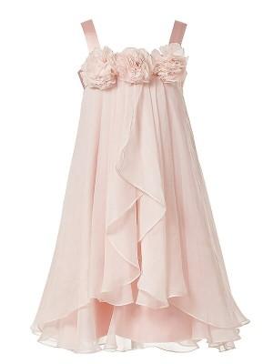 A-Line/Princess Ankle-Length Chiffon Sleeveless Straps Hand-Made Flower Flower Girl Dresses