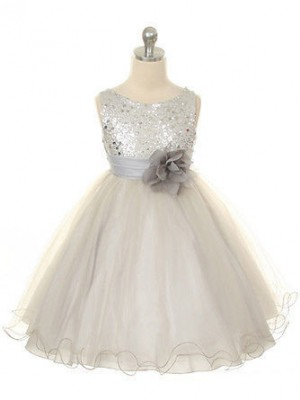 Ball Gown Sleeveless Organza Tea-Length Hand-Made Flower Jewel Flower Girl Dresses