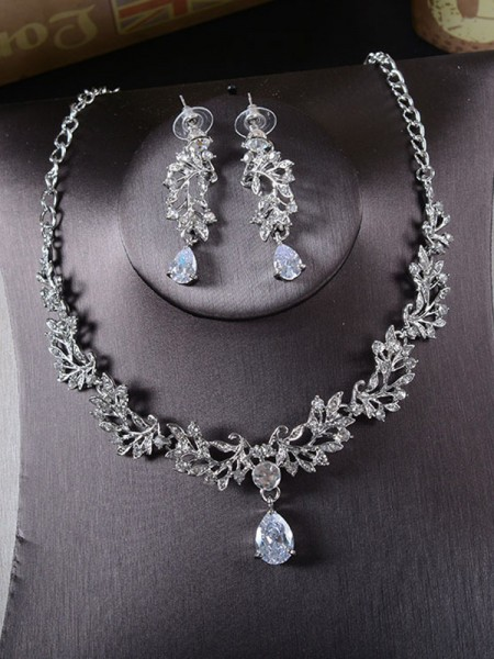 Beautiful Ladies's Alloy With Rhinestone Jewelry Set