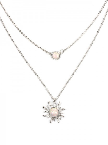 Women's Occident Simple Necklaces With Sun