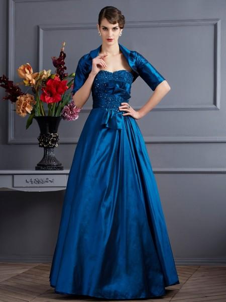 A-Line/Princess Sweetheart Sleeveless Floor-Length Royal Blue Dresses