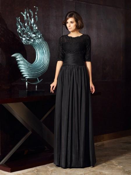 A-Line/Princess Sleeveless Applique Floor-Length Sweetheart Taffeta Mother of the Bride Dresses