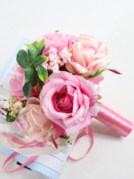 Fashion Bridal Bouquets Round Silk Flower
