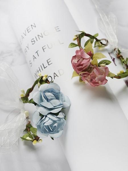 Wedding Flowers Paper Wrist Corsage