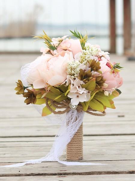 Bride Wedding Bouquet Bridesmaid Holding Bouquet Pink Flower