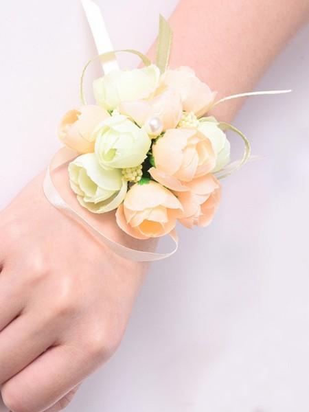 Fashion Silk Flower Bridal Wrist Corsage