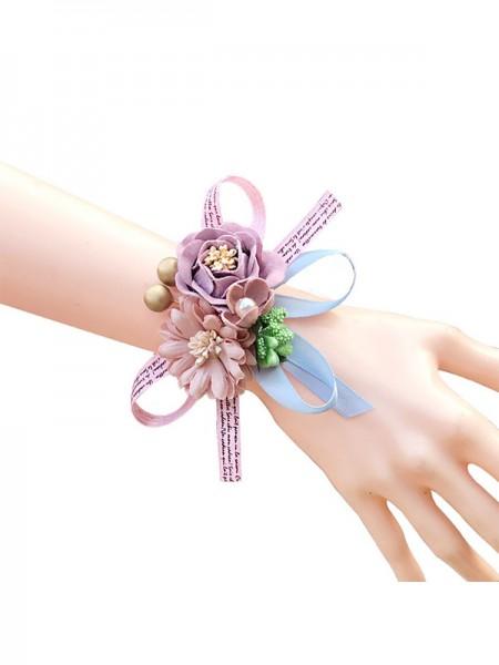 Charming Wedding Decoration Artificial Flower Wrist Corsage
