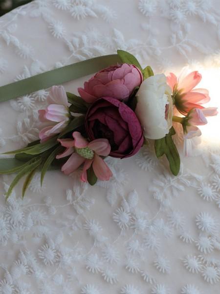 Charming Silk Flower Bridal Wrist Corsage