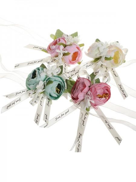 Delicate Cloth Wrist Corsage Bridal Bouquet