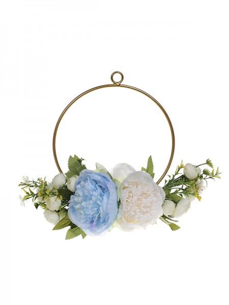 Girly Round Plastic Bridal Bouquets Wedding Flower