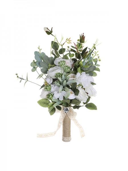 Sweet Silk Free-Form Flower Bridal Bouquets