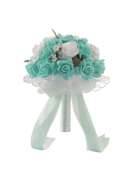 Pretty Round PE Bridal Bouquets Wedding Supplies