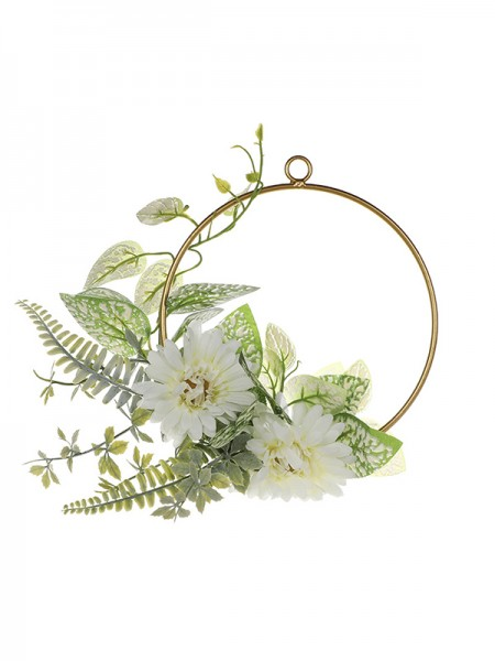 Fancy Round Plastic Bridal Bouquets Wedding Flower