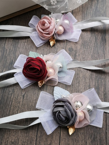 Gorgeous Cloth Wrist Corsage Wedding Supplies
