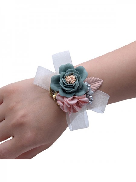 Low-key Hand-tied Cloth Wrist Corsage Bridal Bouquets
