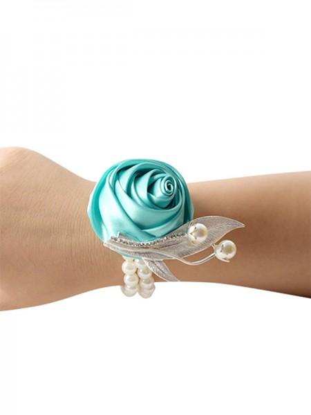 Elegant Hand-tied Cloth Bridal Wrist Corsage