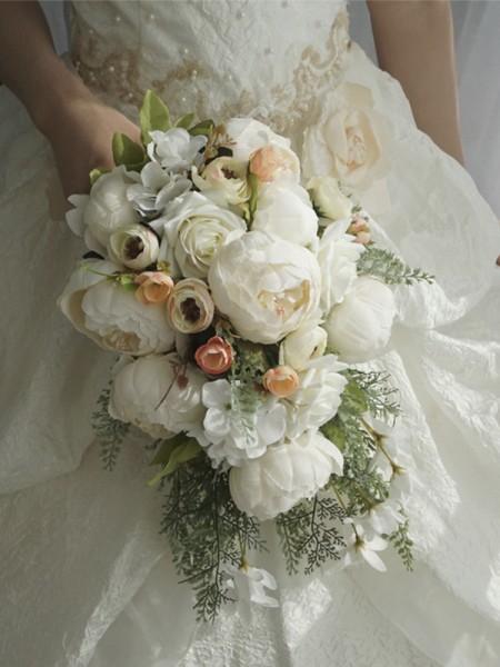 Cascade Silk Flower Charming Bridal Bouquets