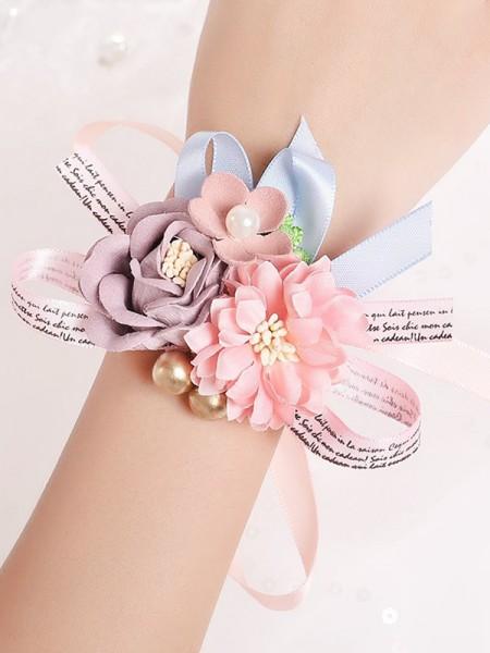 Delicate Silk Flower Bridal Wrist Corsage