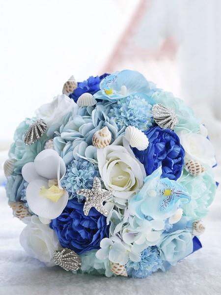 Round Artificial Flower Gorgeous Bridal Bouquets