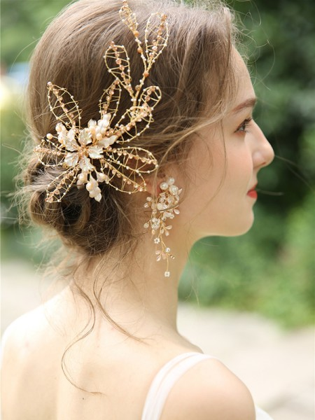 Unique Czech Alloy Bridal Headpieces