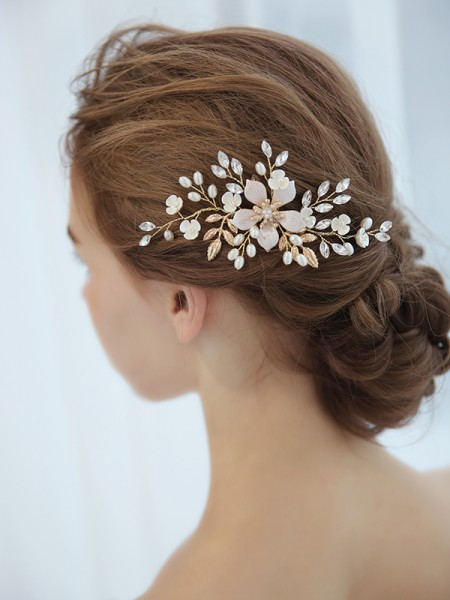 Unique Czech Imitation Pearl Bridal Headpieces