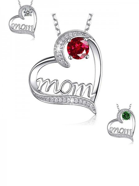 Alloy With Zircon Charming Necklaces For Mother
