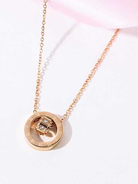 Hot Sale Classic Titanium With Rhinestone Necklaces