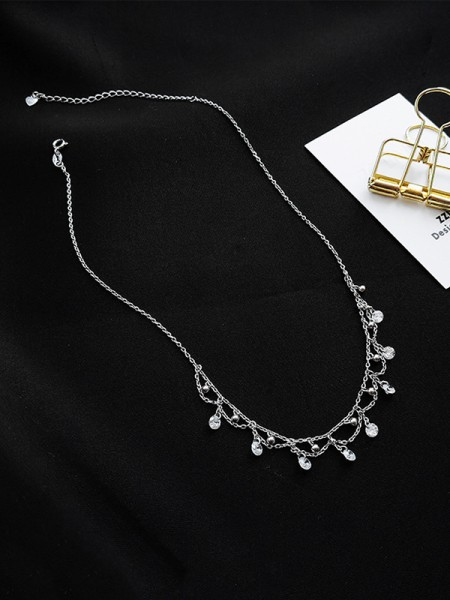 Hot Sale Fashion S925 Silver With Zircon Necklaces