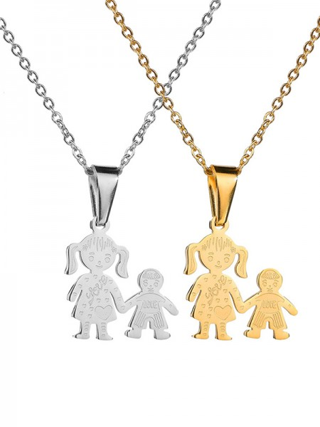 Unique Titanium Hot Sale Mother Necklaces