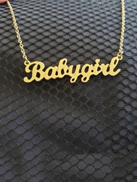 Womens Pretty Titanium With Letters Necklaces