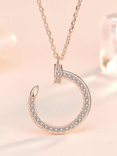 Hot Sale Classic S925 Silver With Zircon Necklaces
