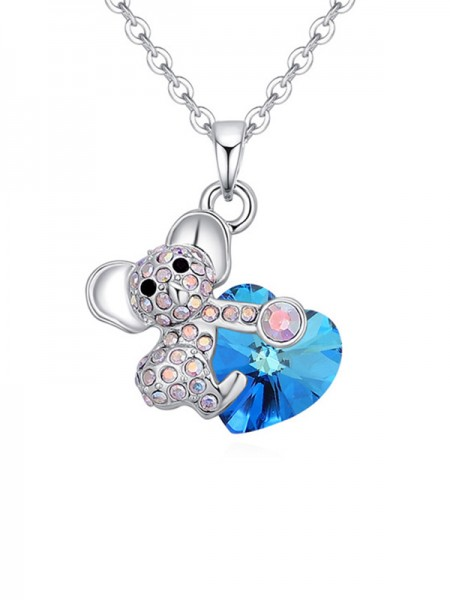 Lovely Alloy With Crystal Necklaces For Women