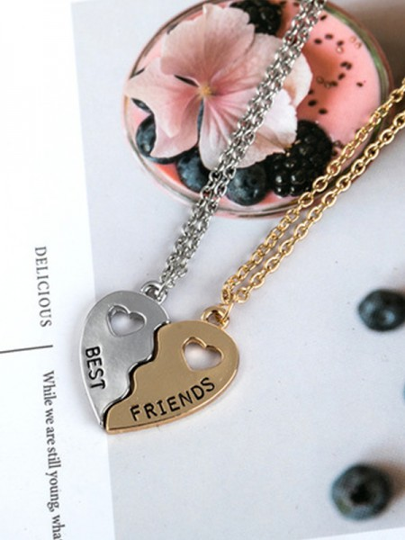 Hot Sale Brilliant Alloy Necklaces For Best Friends