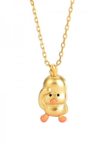 Ladies Cute Copper With Duck Necklaces