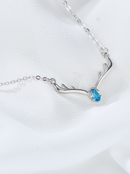 Fashion S925 Silver With Rhinestone Womens Necklaces