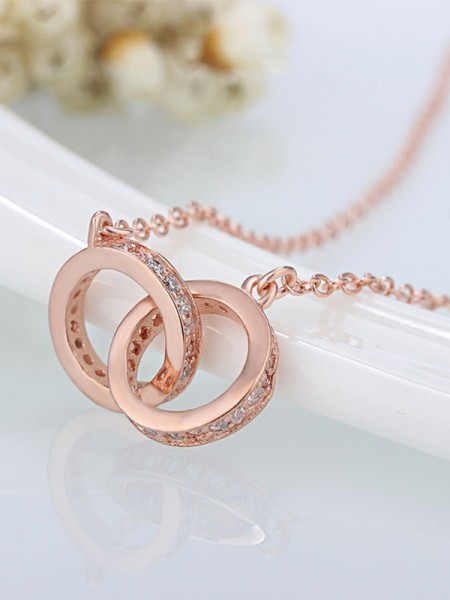 Womens Trending Copper With Zircon Necklaces