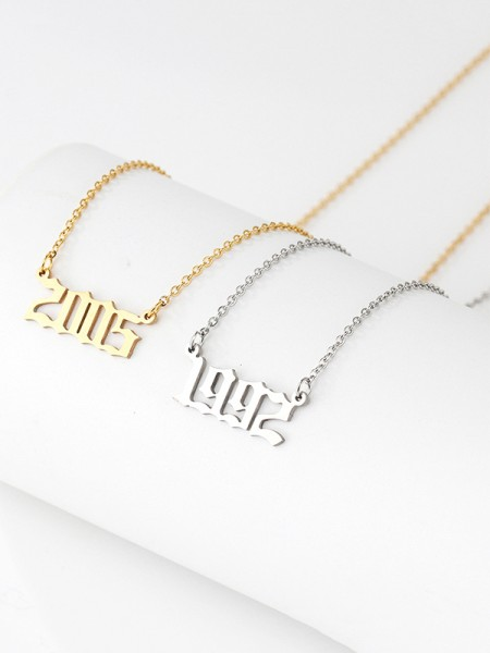Hot Sale Chic Titanium With Numbers Necklaces