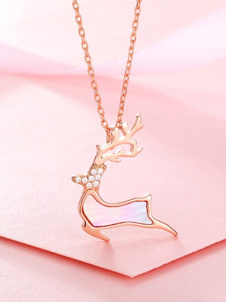 Hot Sale Classic S925 Silver With Rhinestone Necklaces