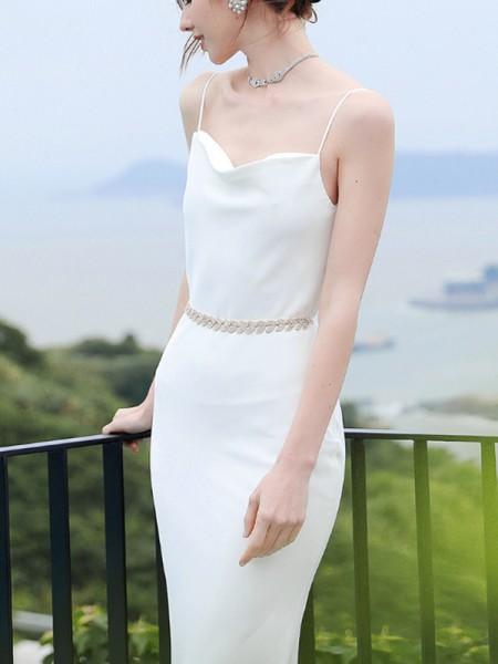 Bridal Alloy Sash Stylish Crystal Rhinestone Ribbon