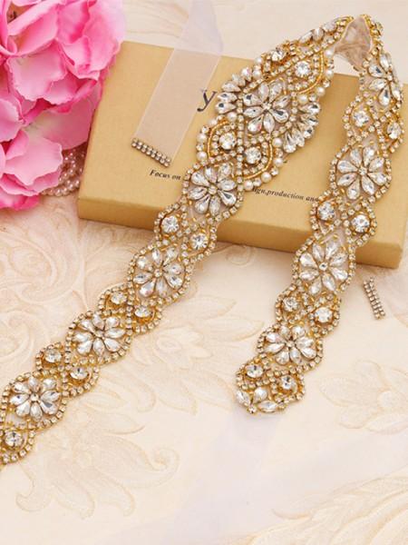 Women's Trending Satin Sashes With Rhinestones/Imitation Pearls