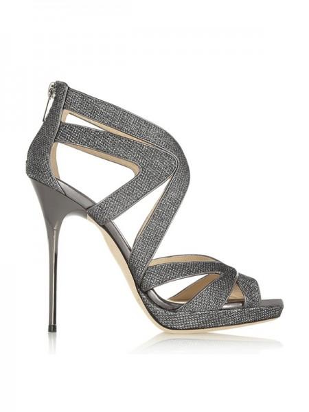 Women's Peep Toe Stiletto Heel Sandals Shoes
