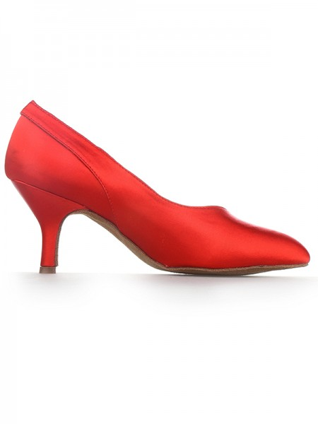 Red Cone Satin High Heels SW1624111I