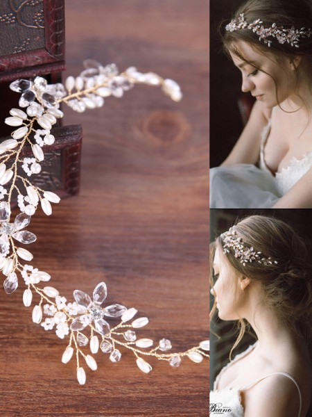 Simple Pearls Wedding Headpieces