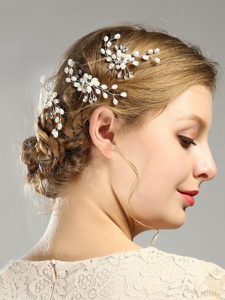 Elegant Imitation pearls Wedding Headpieces