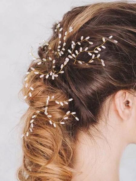 Stunning Pearls Wedding Headpieces