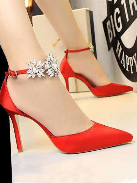 Patent Leather Stiletto Heel Closed Toe High Heels For Womens