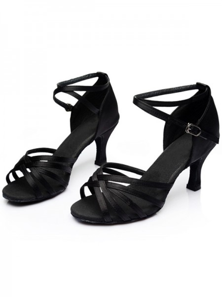 Leatherette Kitten Heel Peep Toe Women's Sandals