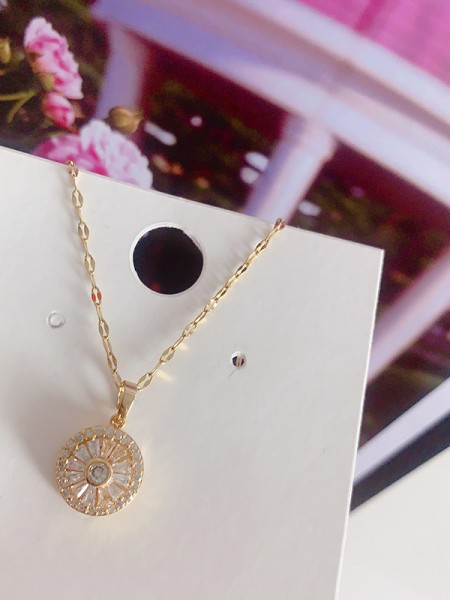 Hot Sale Occident Pretty Titanium With Crystal Necklaces