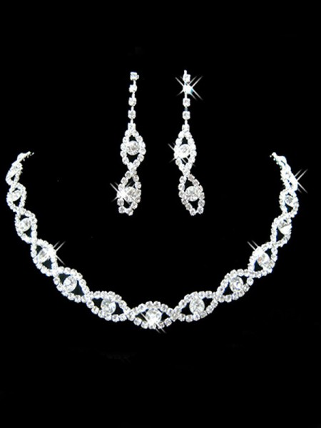 Wedding Pretty Rhinestone Bridal Jewelry Set